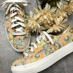 New Keds Triple Up Platform Floral  Sneakers